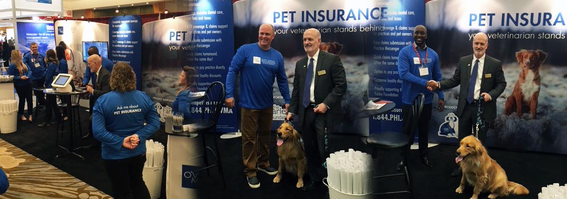 OVMA Pet Health Insurance Launch Booth